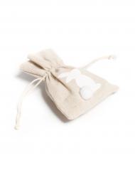 4 sacchetti di lino con coniglietto