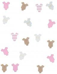 100 Coriandoli da tavola piccolo body rosa