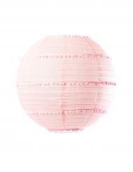 Lanterna con mini pon pon rosa