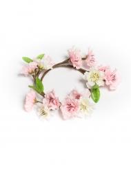 Corona con fiori di ciliegio rosa