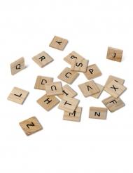 60 lettere dell'alfabeto in legno in stile scarabeo
