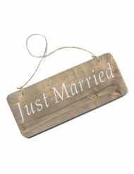Insegna in legno Just Married