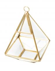 Terrario piramide color oro