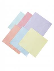 16 tovaglioli di carta 6 colori pastello