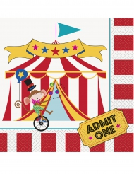 16 tovaglioli di carta tema circo