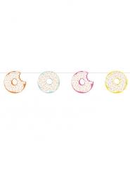 Ghirlanda in cartone con donuts colorati