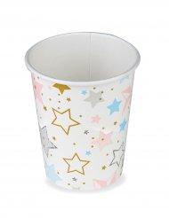 8 bicchieri in cartone stelle Twinkle Twinkle Little star