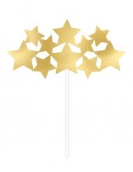 Decorazione per torte con stelle dorate