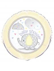 Palloncino alluminio Baby Shower elegantino giallo
