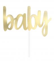 Decorazione per torta Baby color oro metalizzato