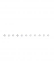 Ghirlanda di pon pon bianchi