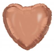 Palloncino alluminio cuore color oro rosa