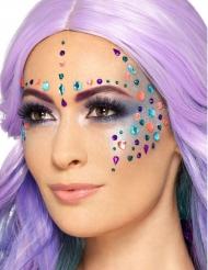100 strass per il viso multicolor