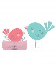 Centrotavola Hello baby rosa e blu