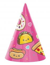 8 cappellini per festa rosa Junk Food
