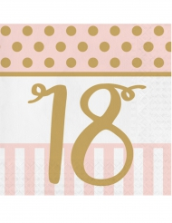 20 tovaglioli compleanno 18 anni rosa e oro