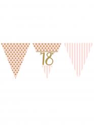 Ghirlanda di carta 18 anni rosa e oro