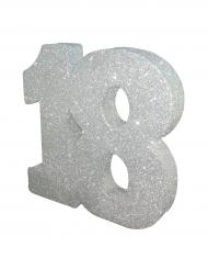 Centrotavola argentato con brillantini 18 anni