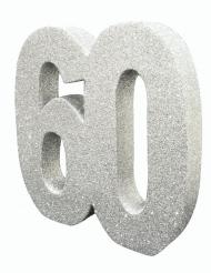 Centrotavola argentato con brillantini 60 anni
