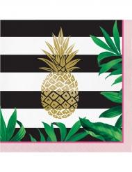 16 tovaglioli di carta ananas dorata