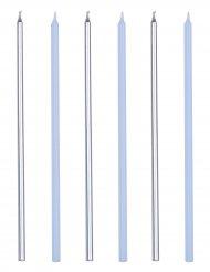 16 candeline giganti blu e argento