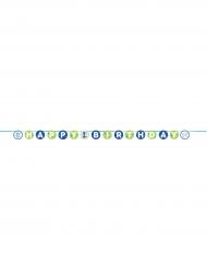Ghirlanda 1° compleanno blu 240 cm