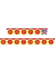 Ghirlanda in carta Happy Birthday camion dei pompieri