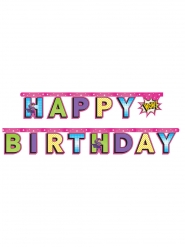 Ghirlanda Happy Birthday super eroine
