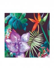 24 tovagliolini di carta a fiori tropicali