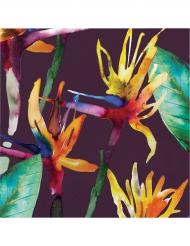 16 tovaglioli di carta con fiori tropicali