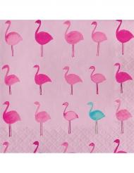 16 tovaglioli di carta tropical flamingo