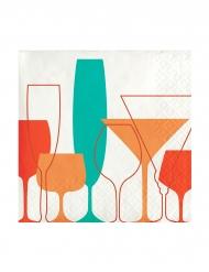 24 tovagliolini di carta bicchieri e cocktail