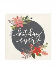 24 tovagliolini di carta Best Day Ever