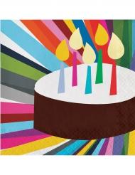 20 tovaglioli di carta torta di compleanno