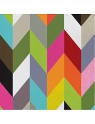 16 tovaglioli di carta zig zag multicolor