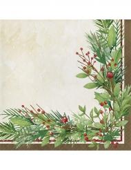 16 tovaglioli di carta corona di Natale