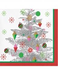 16 tovaglioli di carta albero di Natale argento