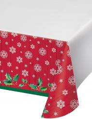 Tovaglia in plastica rossa Babbo Natale