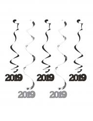 5 sospensioni a spirale nere e argento 2019