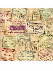 16 tovaglioli di carta giro del mondo