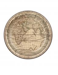 8 piatti in cartone giro del mondo 23 cm