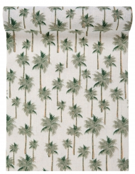 Runner da tavola in cotone palme tropicali