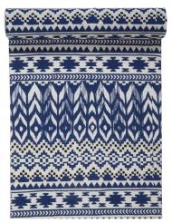 Runner da tavola in cotone stile etnico blu