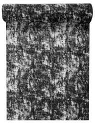 Runner da tavola in cotone effetto sfumato nero
