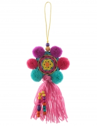 Sospensione messicana con pon pon multicolor