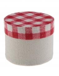 4 scatoline in cotone con motivo a quadretti
