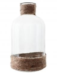Vaso di vetro con corda