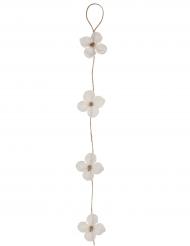 Ghirlanda in tessuto di fiori bianchi