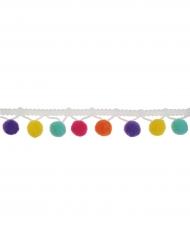 Nastro con pon pon multicolor 2 m