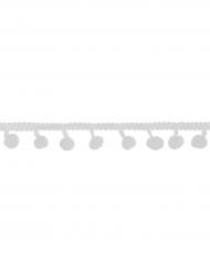 Nastro con pon pon bianchi 2 m